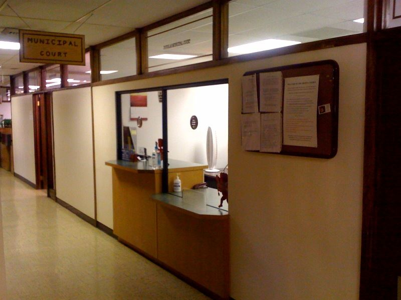 Municipal Court Front Desk Reception Area